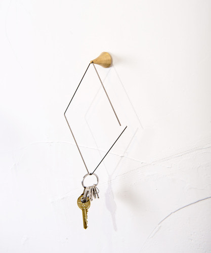 Brass diamond hook
