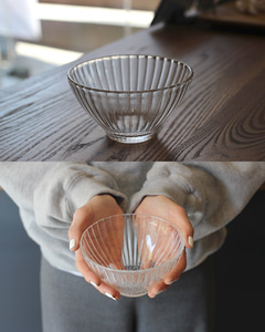 Glass bowl_stripe